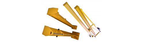Gru a bandiera con braccio sfilabile (manuali ed elettriche)